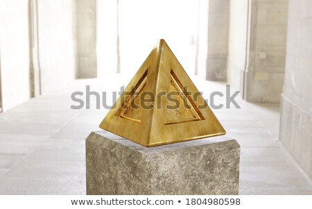 Pyramid and light Stock photo © Aikon