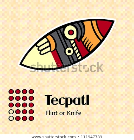 Aztec symbol Tecpatl Stock photo © sahua