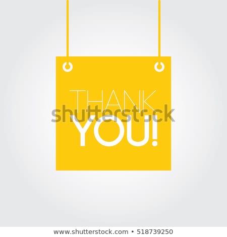 Dank u sticky note nota Geel papier kurk Stockfoto © stevanovicigor