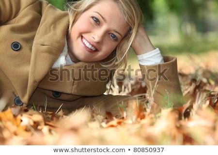 vrouw · landschap · mooie · jonge · kaukasisch - stockfoto © photography33