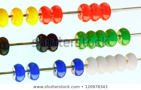 abacus with red green blue and white balls Stock photo © compuinfoto