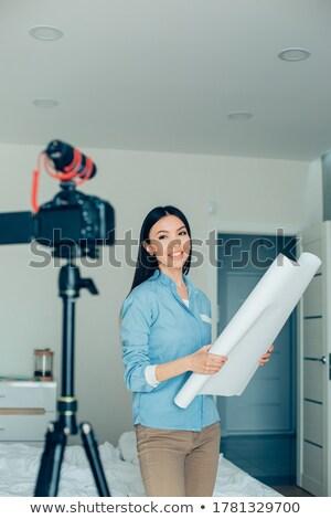 熱狂的な 小さな 建築 笑顔 建設 作業 ストックフォト © photography33