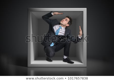 Uwięzione biznesmen działalności komputera twarz laptop Zdjęcia stock © photography33