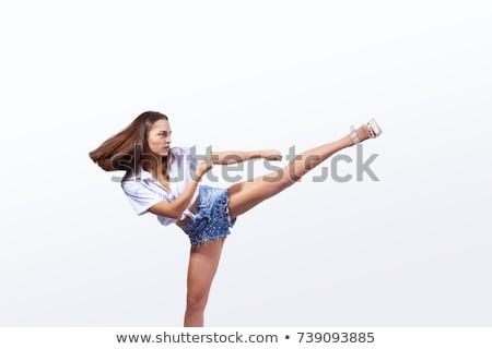 kick girl stock photo © carlodapino