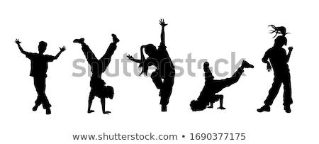 Moderne rap danser jonge geïsoleerd witte Stockfoto © acidgrey