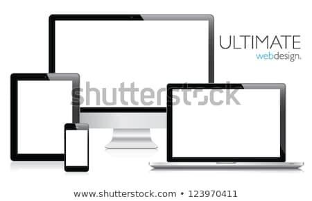 набор · мобильных · электронных · синий - Сток-фото © fotoscool