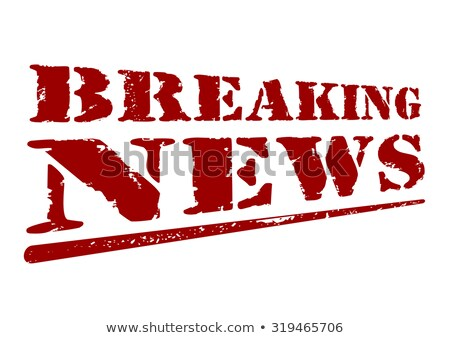 breaking news with red letters stock photo © samsem
