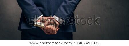 Handschellen Geschäftsmann stehen weiß Recht Executive Stock foto © wavebreak_media