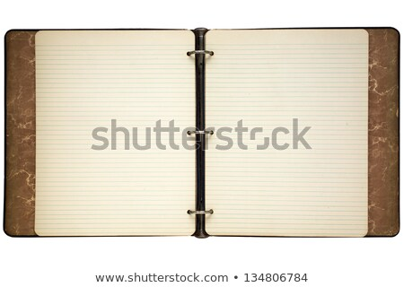Old journal lined notepaper isolated on white. Stock photo © latent