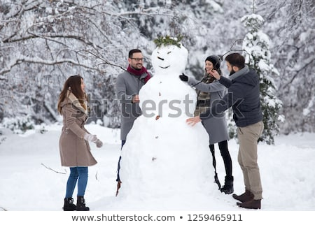 снеговик · женщины · снега · зима · Hat · морковь - Сток-фото © balasoiu