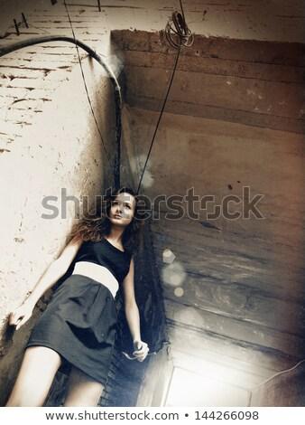 femminile · ritratto · iso · film · donna - foto d'archivio © tolokonov
