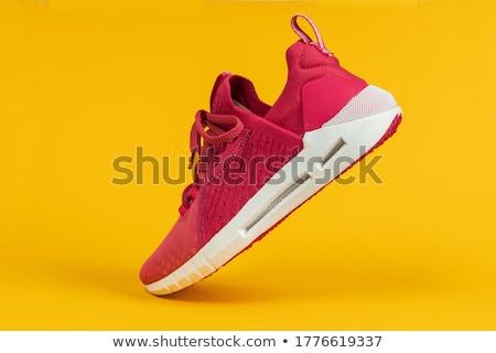Nieuwe trainers bed schoenen Stockfoto © ABBPhoto