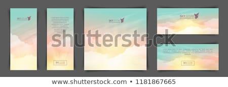 Atmosfeer ochtend verticaal witte wolken blauwe hemel Stockfoto © nuttakit