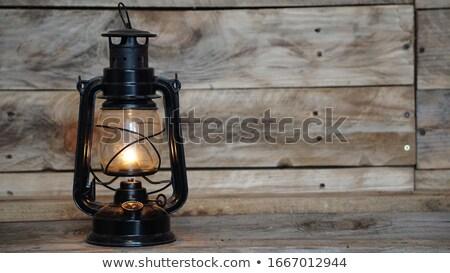 Lâmpada dourado detalhes macro fogo Foto stock © simply