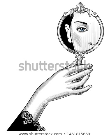 Fashion model reflecting in mirror Stock photo © stepstock
