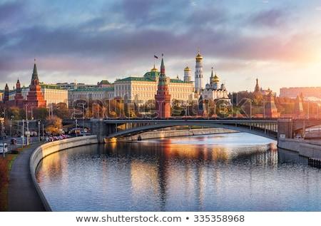 vermelho · praça · torres · russo · céu · urbano - foto stock © chrisdorney