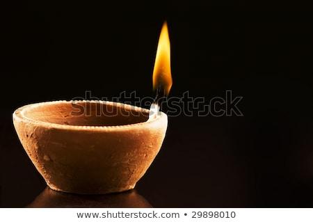 Lamp kaars brandend nacht licht donkere Stockfoto © stocker