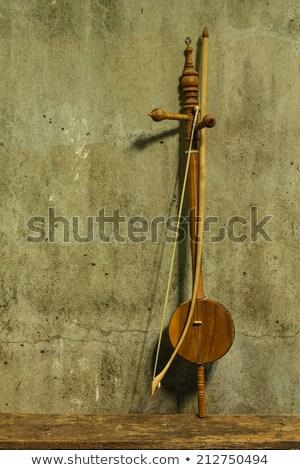 karácsony · violinkulcs · kép · piros · ünnepi · jegyzetek - stock fotó © anna_om