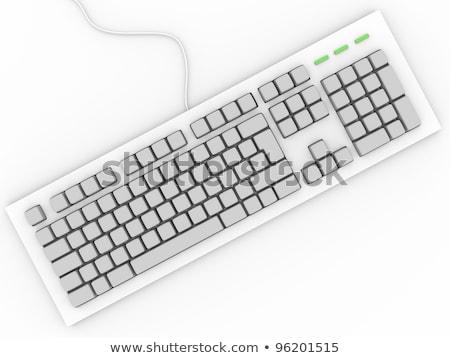 Billentyűzet levelek részlet fekete számítógép billentyűzet kulcsok Stock fotó © w20er
