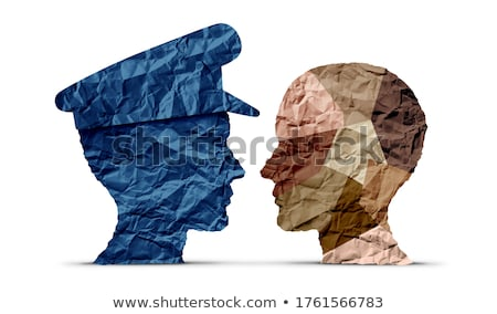 police and the criminal Stock photo © brux