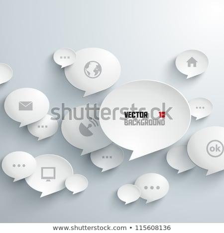 standing out concept speech bubbles Stock photo © burakowski