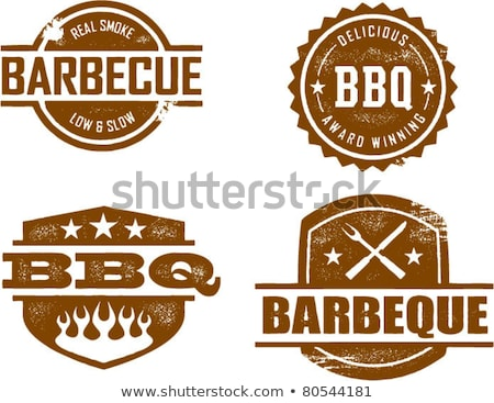 grill · buli · bélyeg · vektor · üzlet · iroda - stock fotó © burakowski