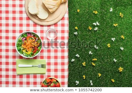 picknick · vers · fruit · snacks · vergadering · voedsel - stockfoto © epstock