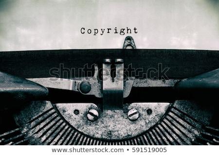 copyright typewriter stock photo © ivelin