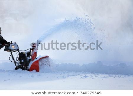 neige · ventilateur · jaune · pente · construction · glace - photo stock © janhetman