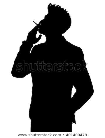 iş · adamı · sigara · genç · bakıyor - stok fotoğraf © feedough
