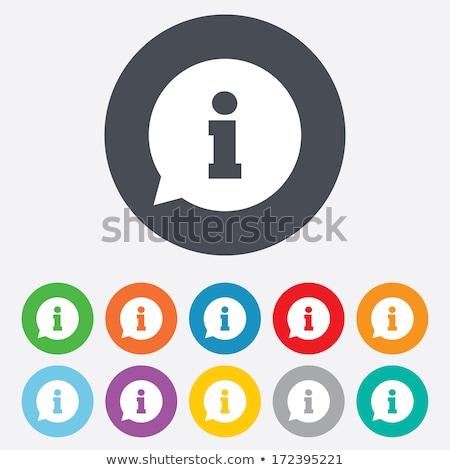 Információ jel gomb vektor internet felirat kommunikáció Stock fotó © burakowski