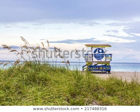 ahşap · plaj · kulübe · art · deco · stil · güney · plaj - stok fotoğraf © meinzahn