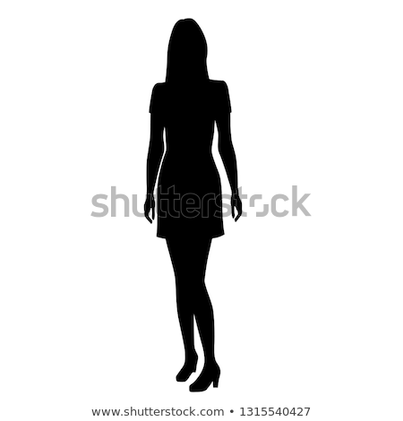woman silhouette profile colorful abstract elements stock photo © cienpies
