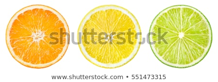 Sliced orange fruit segments  isolated on white background  Stock photo © natika