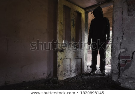 man standing in an old dirty room stock photo © feedough