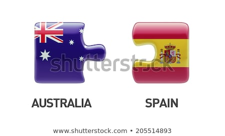 spain and australia flags in puzzle stock photo © istanbul2009