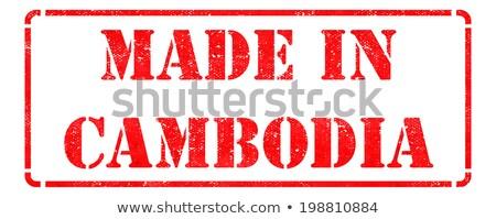 Cambodge rouge isolé blanche Photo stock © tashatuvango