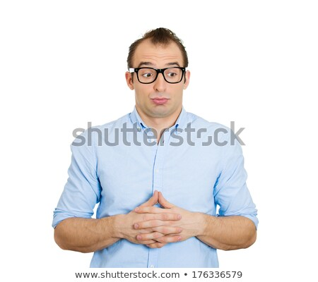 Man playing nervously with his hands because he made mistake stock photo © ichiosea