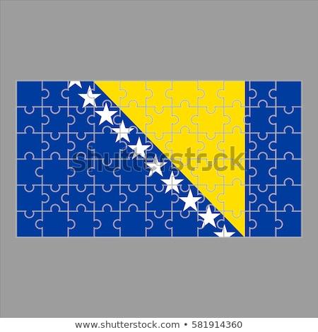 флаг · Босния · и · Герцеговина · белый · древесины · фон · путешествия - Сток-фото © istanbul2009