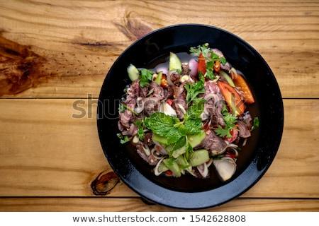 Taylandlı · baharatlı · salata · restoran · limon · domates - stok fotoğraf © punsayaporn