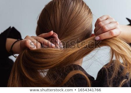 Gyönyörű fiatal szőke haj lófarok nő Stock fotó © dash