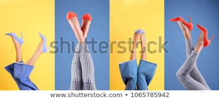Femme jambes mode chaussures fille sexe Photo stock © lindwa