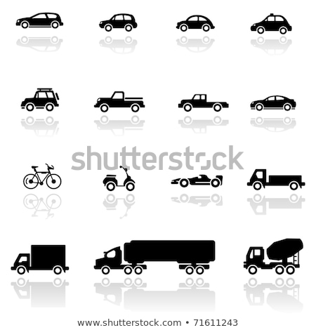Vector Lorry Icons Set 4 Stock photo © dashadima