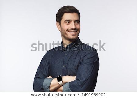 Serious man looking away Stock photo © HASLOO