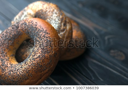 Friss ízletes szezám pipacs magok bagel Stock fotó © vlad_star