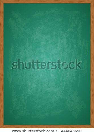 chalk education signs over green blackboard Stock photo © marinini