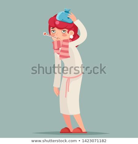 Sick woman character image Stock photo © anastasiya_popov