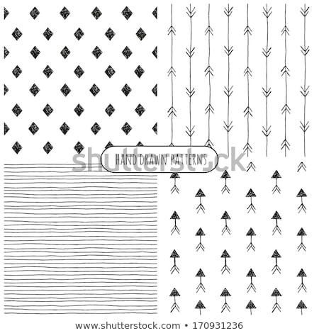 Hand Drawn Style Arrows Seamless Pattern Stock photo © ivaleksa