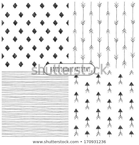 Tribal · zwart · wit · vector · naadloos · ornament - stockfoto © ivaleksa