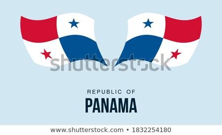 Harita bayrak düğme cumhuriyet Panama vektör Stok fotoğraf © Istanbul2009